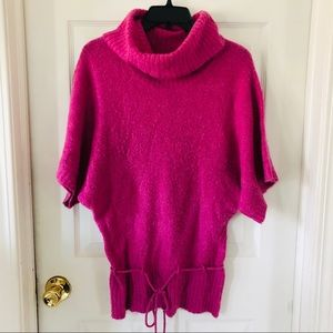 Hot pink soft turtleneck sweater size small